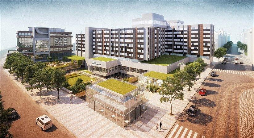 Prostor v okolí pražského hotelu InterContinental na Starém Městě čekají zásadní úpravy. Vizualizace.
