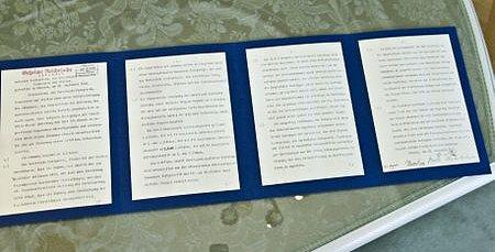 Německá kopie Mnichovské smlouvy.