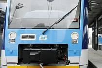 České dráhy představily 5. května v Praze motorový vůz Regio-Shuttle RS1 švýcarské společnosti Stadler.