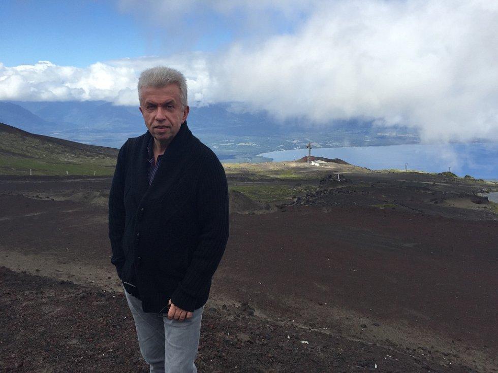 Houslista Jaroslav Svěcený stihl v nabitém programu i návštěvu známé jihochilské sopky Osorno.