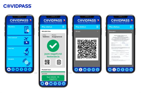 Aplikace CovidPass.
