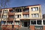 Požár hotelu.