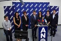 Tisková konference ANO k výsledkům voleb v Praze.
