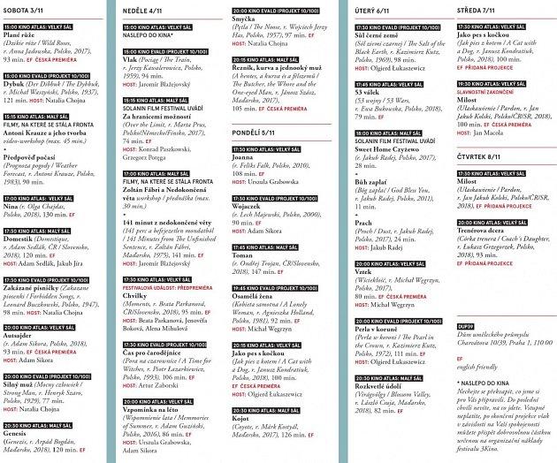 Mezinárodní festival filmů 3Kino. Program.
