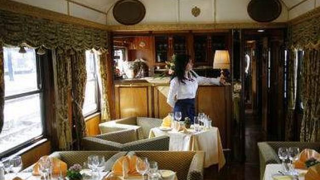 Historický vlak Majestic Imperator přijel 14. června 2007 na hlavní nádraží v Praze.