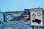 Likvidace železničního mostu přes Průběžnou ulici.