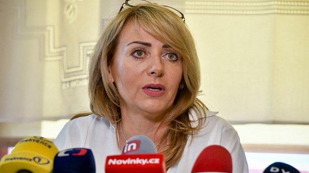 Končící pražská primátorka Adriana Krnáčová vystoupila 16. října 2018 v Praze na tiskové konferenci ke zhodnocení volebního období.