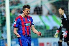 Fotbalové utkání HET ligy mezi celky Bohemians Praha 1905  a FC Viktoria Plzeň 8. dubna v Praze. Jan Kopic.