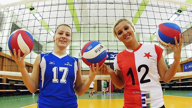 Veronika Dostálová z Olympu a Sandra Steinerová  ze Slavie zvou na derby