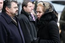 Státní pohřeb Václava Havla na Pražském hradě v pátek 23.prosince. Na snímku Dagmar Havlová.