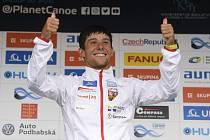 Závody Světového poháru ve vodním slalomu, 8. září 2019 v Praze. Finále kategorie K1 muži. První Jiří Prskavec z ČR