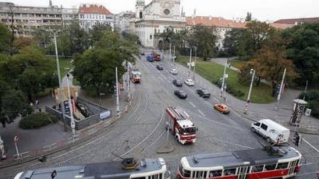 Karlovo náměstí v Praze.
