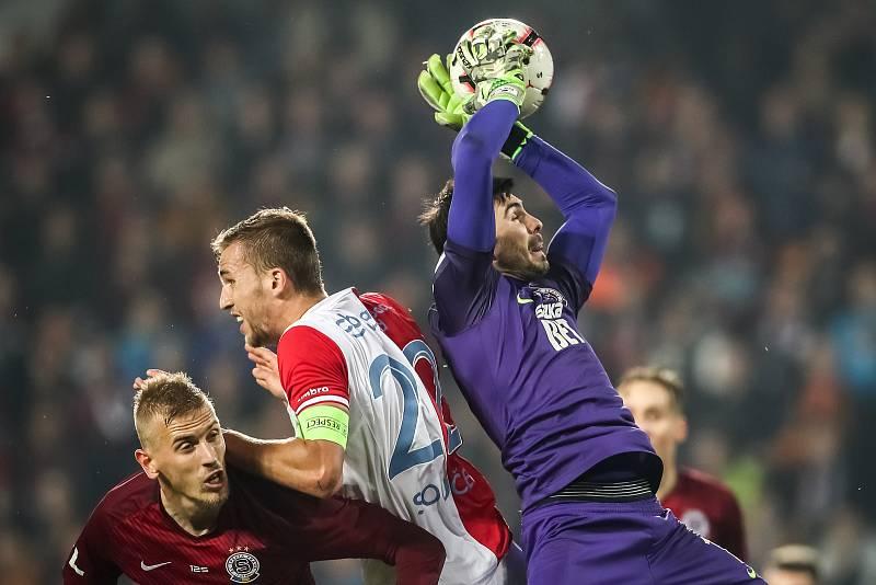 Zápas 14. kola FORTUNA:LIGY mezi Sparta Praha a Slavia Praha, hraný 4. listopadu v Praze. Nita.