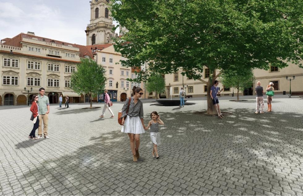 Revitalizace Malostranského náměstí jde do finále, začít by se mělo ještě v roce 2020.