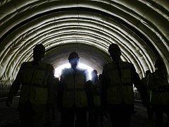 Dělníci 5. září vyvezli z pražského tunelu Blanka poslední kubík vytěžené zeminy.