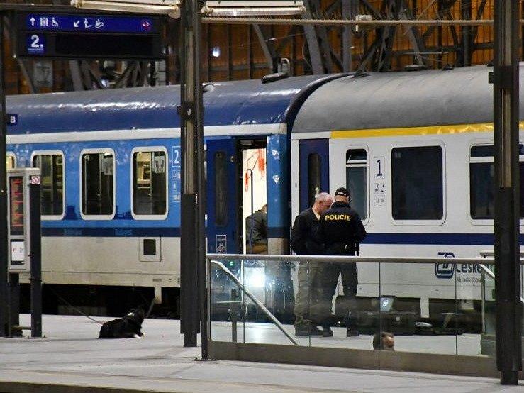 V mezinárodním vlaku v Praze byla nalezena podezřelá bedna, pyrotechnik v ní našel dělový dalekohled.