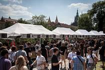 Festival minipivovarů na Pražském hradě.
