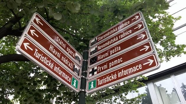 Orientační tabule v Praze.