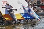 Prague Riverside Cross - exhibiční slalomový závod na Vltavě 3. září 2019.