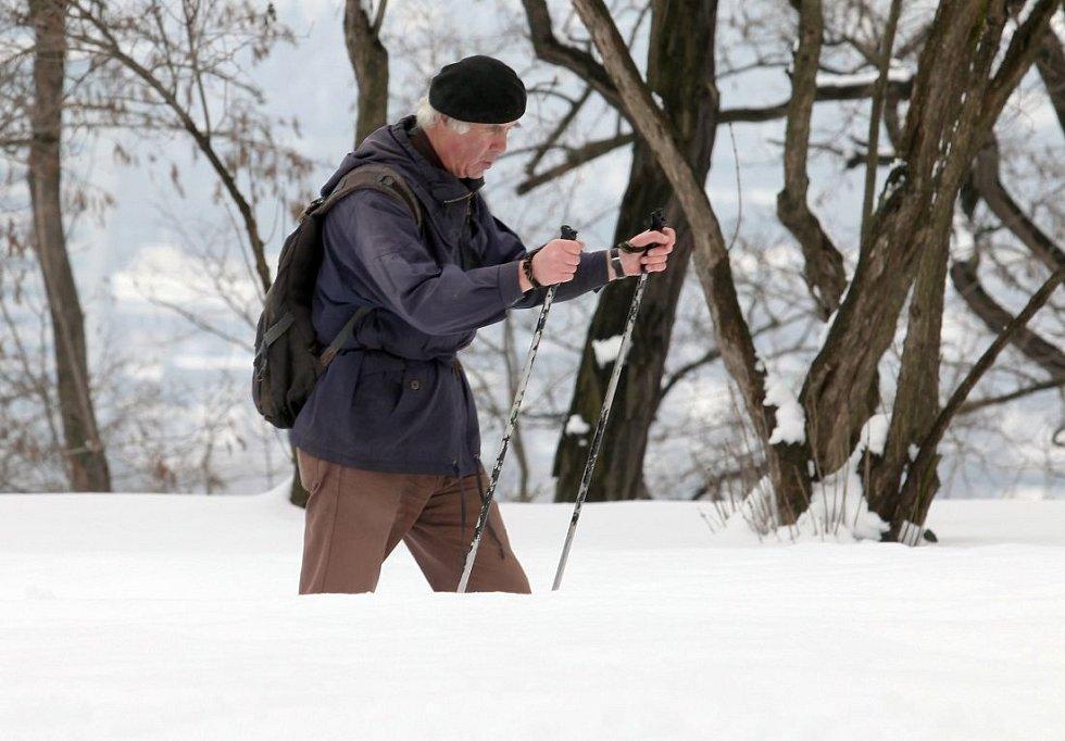 Sněhová nadílka na pražském Vítkově
