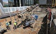 Pokračující rekonstrukce historické budovy Národního muzea.