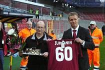 Josef Jurkanin při oslavě 60. narozenin.