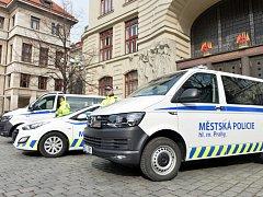 Vozy městské policie. Ilustrační foto.
