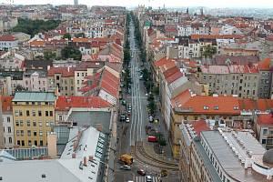 Korunní ulice. Ilustrační foto.