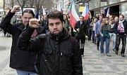 Sobotní demonstrace na Václavském náměstí proti islamizaci.