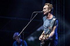 Britský zpěvák Sting vystoupil 23. června v Praze na hudebním Prague Metronome Festivalu.