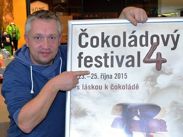 Chris Delattre, organizátor Čokoládového festivalu vČeské republice.