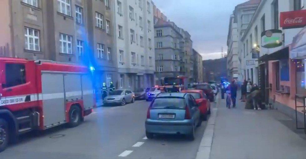 Zásah v Kovářské ulici.