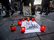 Modlitební shromáždění k 98. výročí zničení Mariánského sloupu