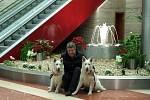 Ředitel Clarion Congress Hotelu Prague Miroslav Bukva se svými švýcarskými ovčáky.
