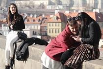 Teplé jarní počasí v Praze 27.února 2019.