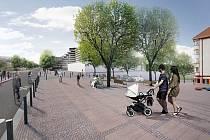 Vizualizace: studie počítá v Bělohorské ulici - spojující Bílou Horu a Malovanku - v Praze například s novou dlažbou, výsadbou stromů či plácky pro posezení.
