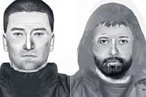 Policejní pátrací identikity z roku 2013. Už tehdy nebylo možno přehlédnout, že portréty vytvořené za pomoci obětí vypadají rozdílně.