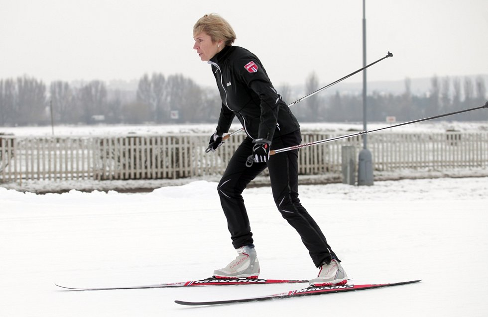 Otevření lyžařské běžecké tratě Skipark Chuchle za účasti olympijské vítězky a mistryně světa v běhu na lyžích Kateřiny Neumannové