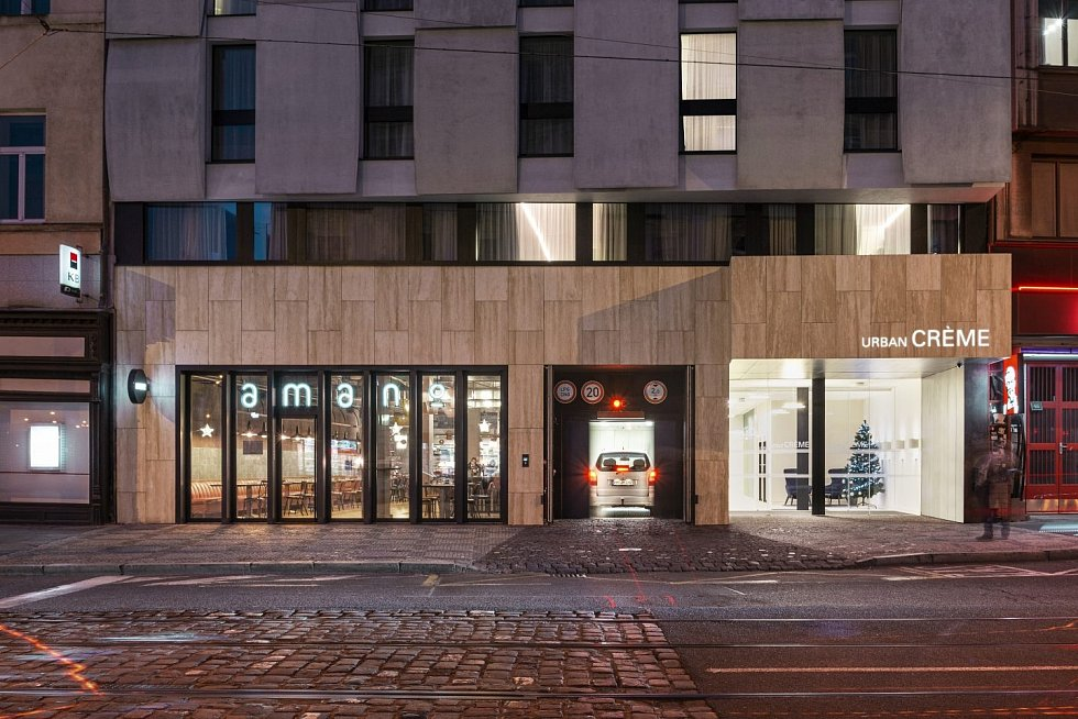 Česká cena za architekturu – nominace 2020. Hotel Urban Creme Praha od kanceláře ra15.
