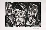 Pablo Picasso: Dívenka s holubicí vede nocí slepého Minotaura.