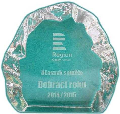 Plaketa pro účastníky soutěže Dobráci roku.