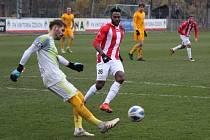 Z druholigového derby Žižkov - Dukla (0:2).