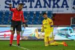 Utkání 6. kola fotbalové Fortuna ligy: FC Baník Ostrava - Slavia Praha, 4. října 2020 v Ostravě. Brankář Baníku Jan Laštůvka