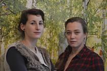 Zuzana Kolková a Kristýna Boková (zleva).