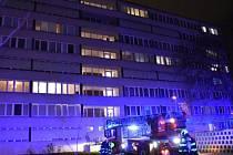 Požár v bytě v Nekvasilově ulici.