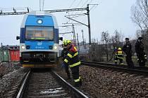 Nehoda na nádraží Praha-Vršovice.