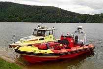 Dvě lodě Vodní záchranné služby ČČK