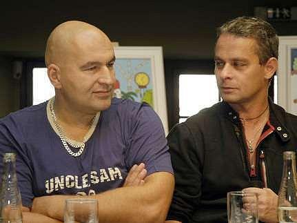 Lou Fanánek Hagen a Filip Renč, tvůrci muzikálu Golem, který se vrací v nové podobě.