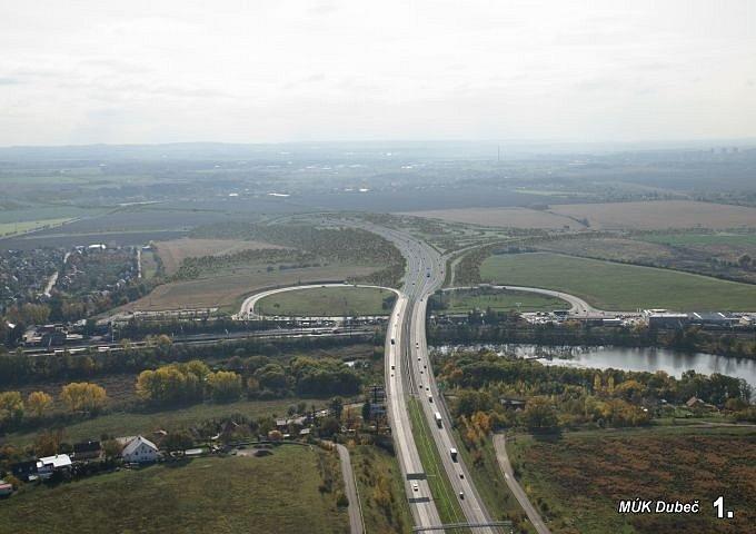Úsek 511 Pražského okruhu mezi Běchovicemi a dálnicí D1. Vizualizace z roku 2010.