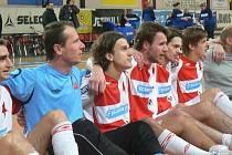 Z futsalového derby v první lize Slavia - Bohemians (3:1).